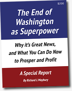 Cover The End of Washington as Superpower